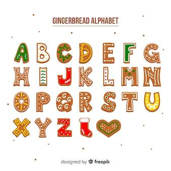 Gingerbread decorated alphabet