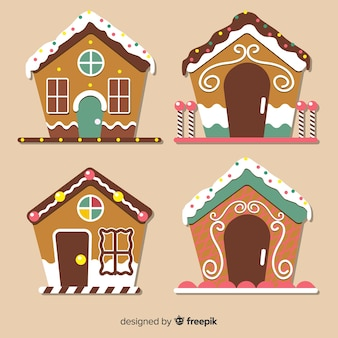 Gingerbread flat house collection