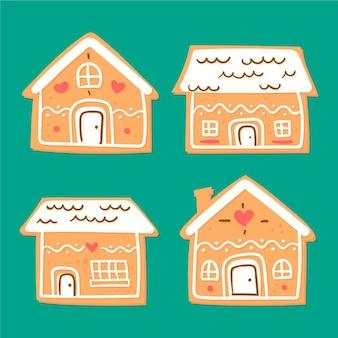 Collezione casa di marzapane Vettore gratuito