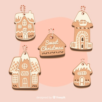 Gingerbread house cookie collection