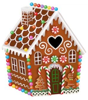 クリスマスのお菓子、ジンジャーブレッドマン、ジンジャーブレッドツリーとジンジャーブレッドハウス