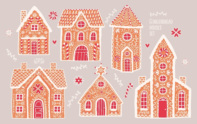 Gingerbread houses set