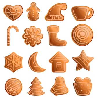 Gingerbread icons set