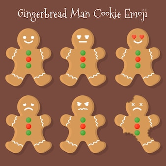Gingerbread man cookie emoji