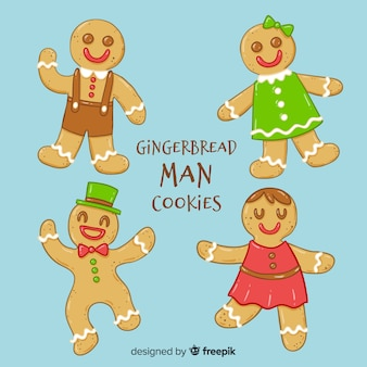 Gingerbread man cookies collection
