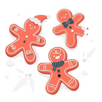 ジンジャーブレッドマンクッキーの概念図