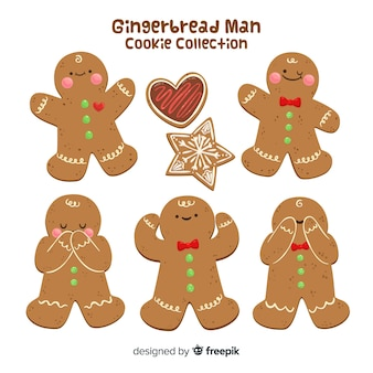 Gingerbread man in different positions  collection