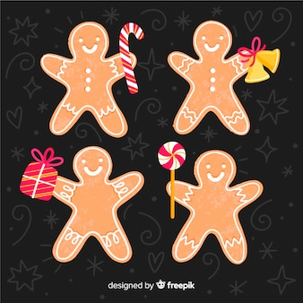 Gingerbread man with accessories pack