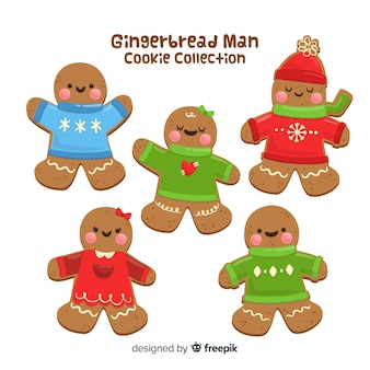 Gingerbread man with pullover collection