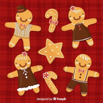 Gingerbread people collection