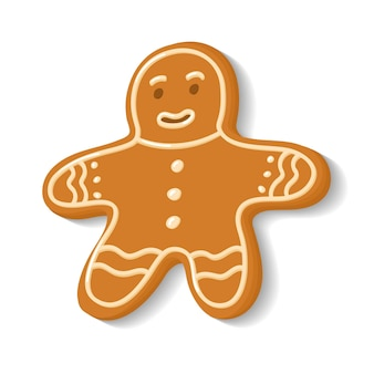Gingerbread in the sandman form home bakery cooking ornamented cookies christmas sweets