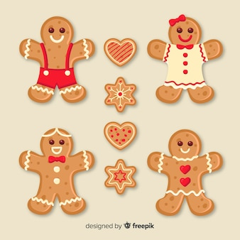 Gingerbread smiling cookies collection