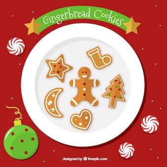 クリスマスはトップビューパックをgingerbreads