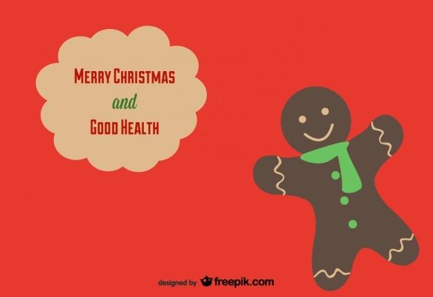 クリスマスカードのgingerman