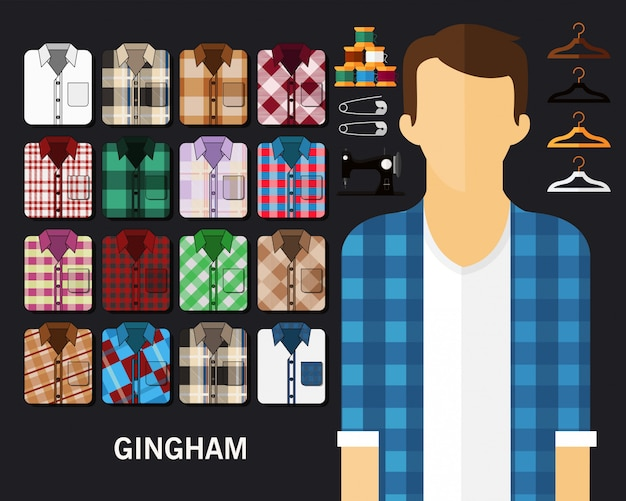 Gingham concept background