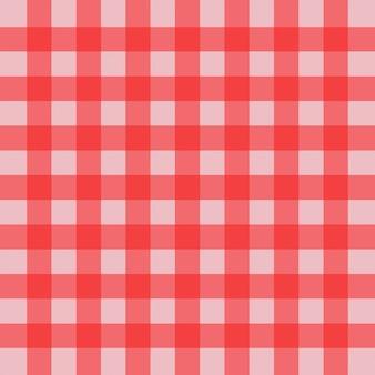 ギンガムのシームレスな格子縞のパターン