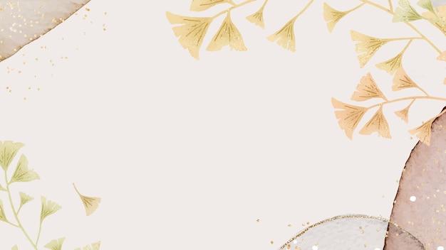 Disegno del telaio con foglie di ginkgo