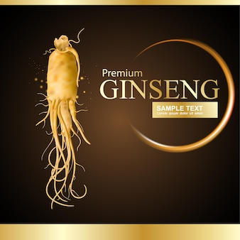 Ginseng advertising or promotion template