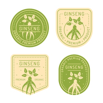 Ginseng jar label collection