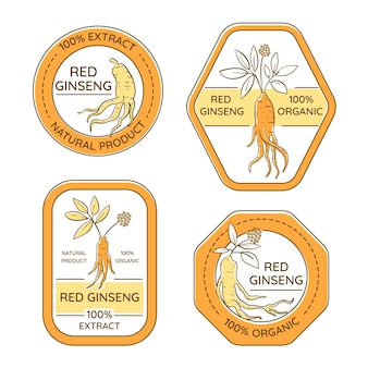 Ginseng jar label collection