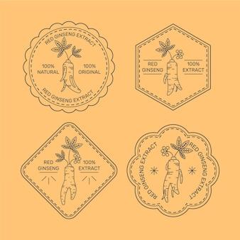 Ginseng jar label set