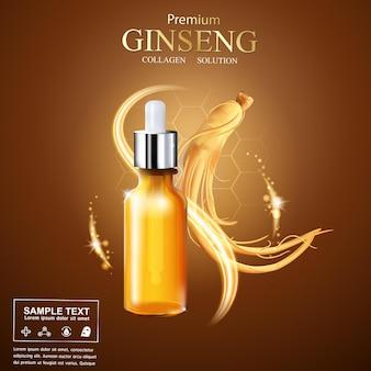 Ginseng premium serum collagen for products.