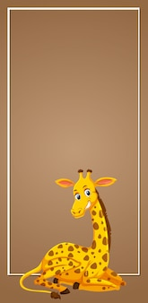 Giraffe on blank banner
