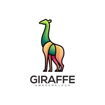 キリンのカラフルなロゴのグラデーションイラスト