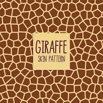 Giraffe skin pattern in brown color