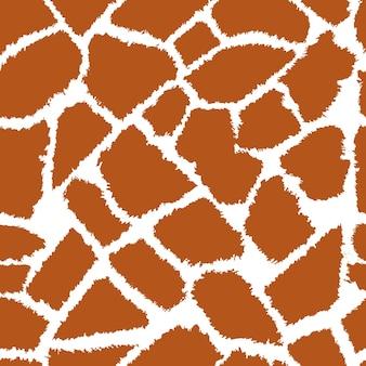キリンの皮膚のベクトルパターン
