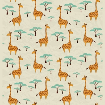 Giraffes pattern design