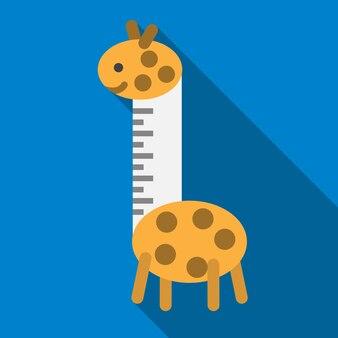 Игрушка giragge плоский значок иллюстрации изолированных вектор знак символ