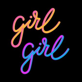 Girl 3d slogan modern fashion slogan for t-shirt graphic vector print
