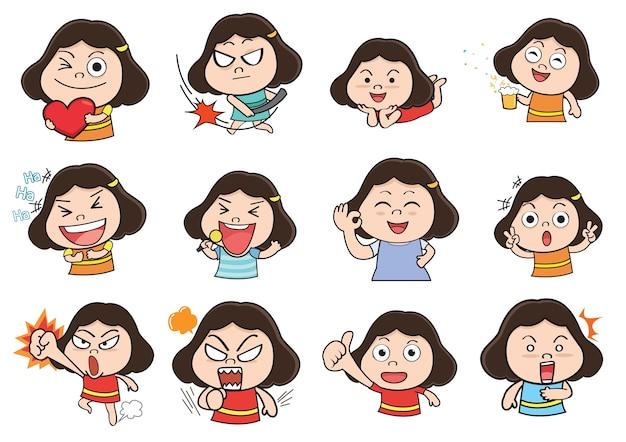 Girl acting cartoon