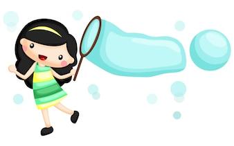Девушка и пузырь