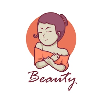 Girl beauty mascot logo design