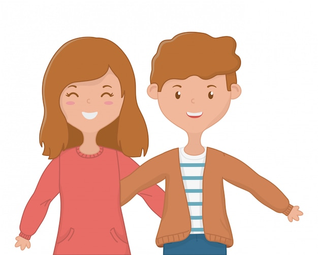 Girl and boy friendship design