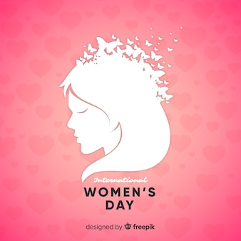 Girl bust women's day background