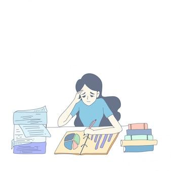 Girl character design of vector
