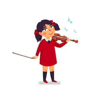 바이올린을 연주하는 소녀 캐릭터