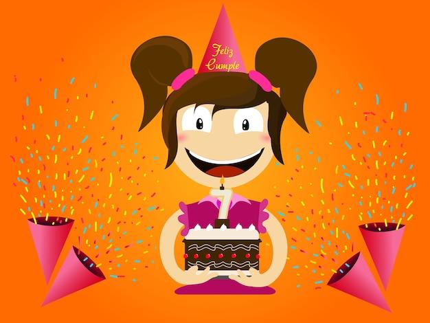 Girl child birthday