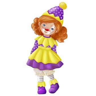 Girl in a clown costume