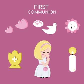 Girl communion