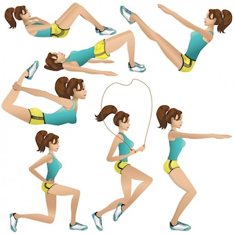 Girl doing exercises designs