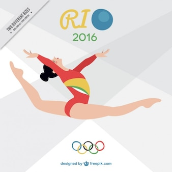 Girl doing rhythmic gimnastics background