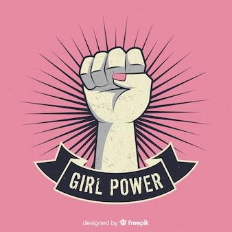 Girl fist symbol
