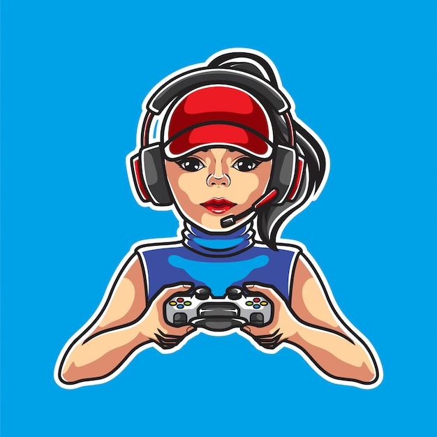 Girl gamers illustration
