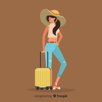 여행 배경에가 여자