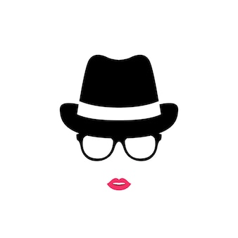 Girl in hat and glasses.