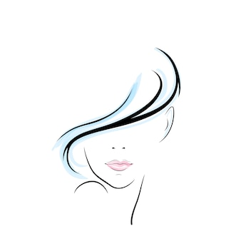 girl head illustration